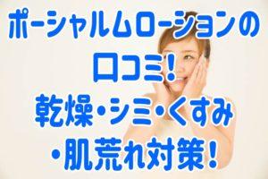ポーシャルムローションの口コミ!乾燥・シミ・くすみ・肌荒れ対策!
