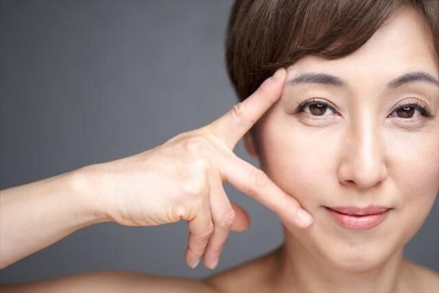 目元と口元の年齢肌